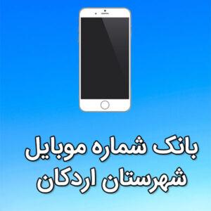 بانک شماره موبایل شهرستان اردکان