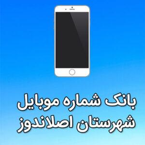 بانک شماره موبایل اصلاندوز